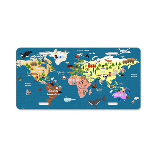 World Map For Kids - Lets E Aluminum License Plate on license plate colors, license plate france, license plate malaysia, license plate water, license plate numbers, license plate mexico, license plate russia, license plate singapore, license plate italy, license plate clock, license plate art, license plate collection, license plate search, license plate germany, license plate united states, license plate syria, license plate china, license plate games, license plate country, license plate south africa,
