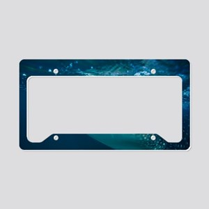 Whale shark filter feeding License Plate Holder