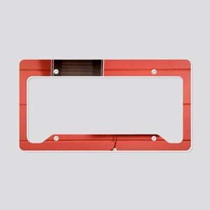 Solar powered lamp License Plate Holder