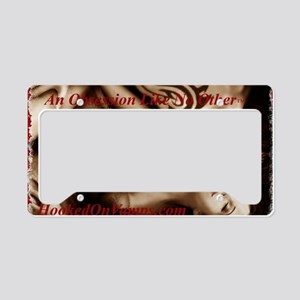 DE_sepia_feather_Red_HorizX15 License Plate Holder