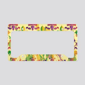 MardiGrasLoveCrLaptpPm License Plate Holder