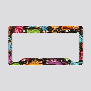 Catty Multi Cat Black copy License Plate Holder