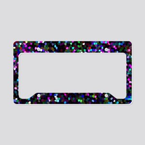 Glitter Graphic Background License Plate Holder