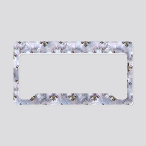 Golden Fleur de Lis License Plate Holder