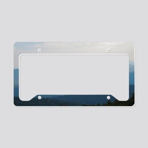 Blue Smokey Mountains #02 License Plate Holder
