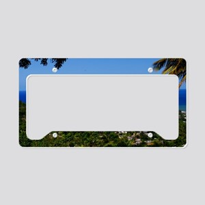 St Lucia 35x23 License Plate Holder