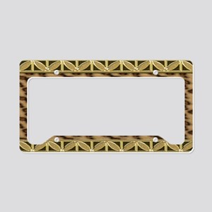 Cheetah  Gold Floral OrnatePA License Plate Holder