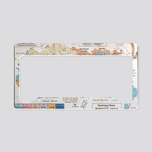 Ernst Haeckel Map Lemuria Hum License Plate Holder