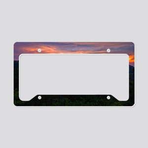 110712_Bluff Mountain Sunset_ License Plate Holder