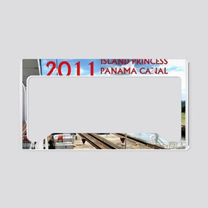 Panama Canal - rect. photo wi License Plate Holder