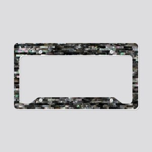 Black Mother of Pearl License Plate Holder