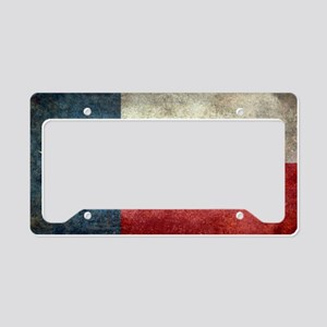 Texas state flag vintage retr License Plate Holder