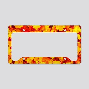 Maple Leaves License Plate Holder