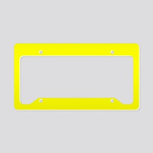 Simply Yellow Solid Color License Plate Holder
