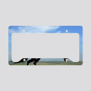 Black Horse Running License Plate Holder