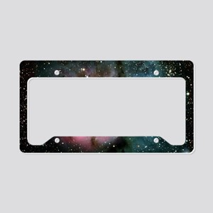 Nebula galaxy of stars in spa License Plate Holder