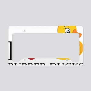 Love Rubber Ducks License Plate Holder