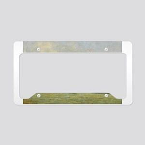 thoroughbred horse racing art License Plate Holder