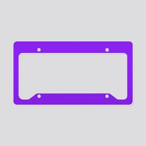 Neon Purple Solid Color License Plate Holder