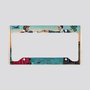 Hands Across The Sea License Plate Holder