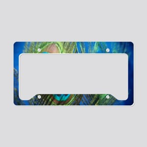 fisheye peacock License Plate Holder