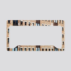 Brick building facade License Plate Holder