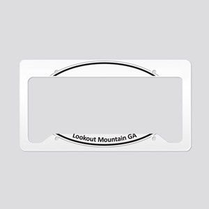 Lookout Mountain GA Black & W License Plate Holder