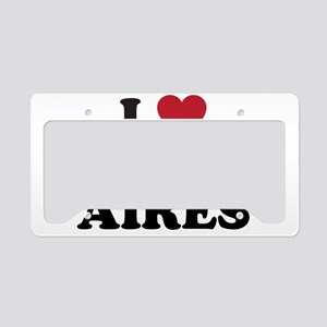 I Love Buenos Aires License Plate Holder