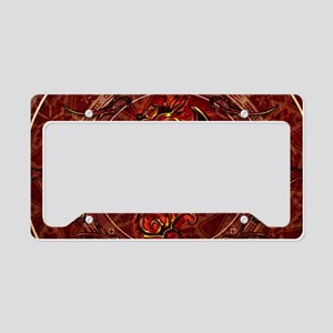 Awesome dragon, tribal License Plate Holder