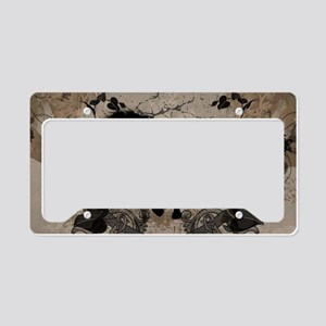Black horse silhouette License Plate Holder