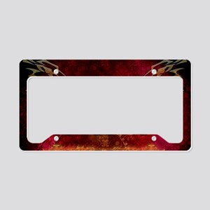 Lion in golden colors License Plate Holder