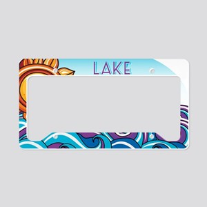 Lake Norman Waves  Sun License Plate Holder