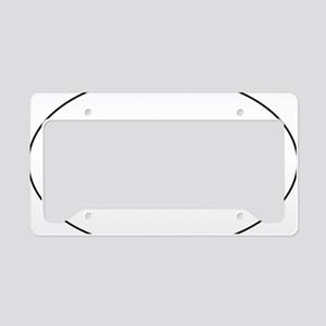 white sticker License Plate Holder