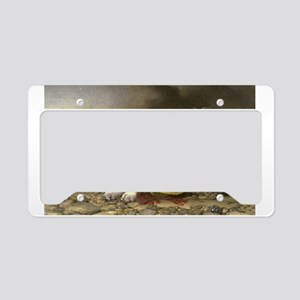 Painting of Landseer Rescue License Plate Holder