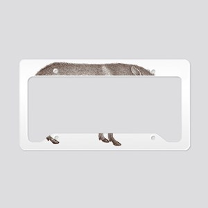 Peccary Pig - Javelina License Plate Holder