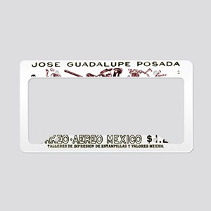 1963 Mexico Don Quijote Skele License Plate Holder