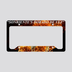SONRIENTEFLAMES TEXTdesignerc License Plate Holder