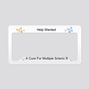 Ribbon and Butterflys License Plate Holder