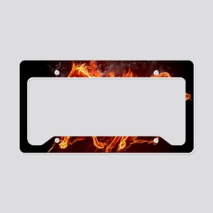 Fire Horse License Plate Holder