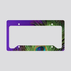 Purple Foil Peacock License Plate Holder
