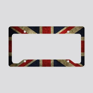 Grunge Flag Of England License Plate Holder