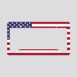 USA flag authentic version License Plate Holder