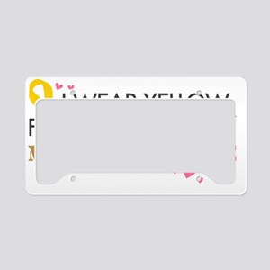 Yellow2 License Plate Holder