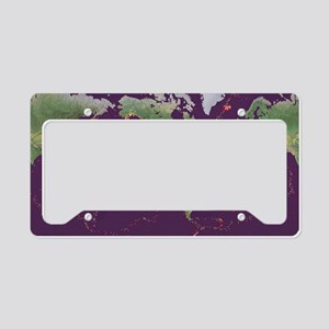 Earth's volcanoes and earthqu License Plate Holder