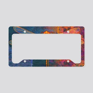 toiletryFlamingDragonfly License Plate Holder