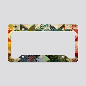 Fun Patchwork Quilt License Plate Holder