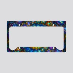 Textured Fractal Spiral Shell License Plate Holder