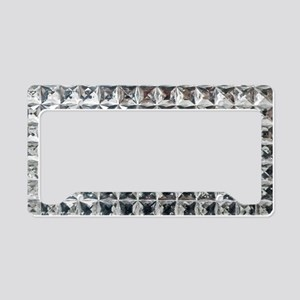 Square Diamond Bling License Plate Holder