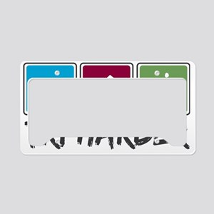tri harder_2_colors License Plate Holder