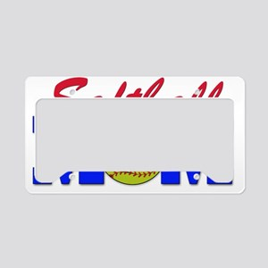 girls softball(blk) License Plate Holder